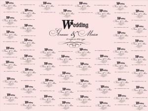 Свадебный пресс волл, бренд волл
